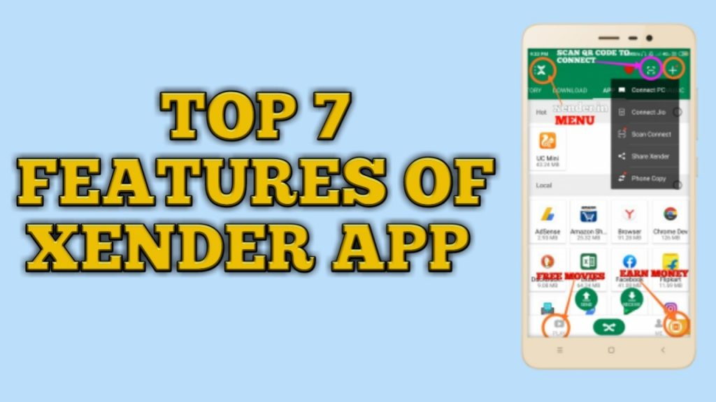 features of xender, features of xender app,top 10 features of xender,Xender features,